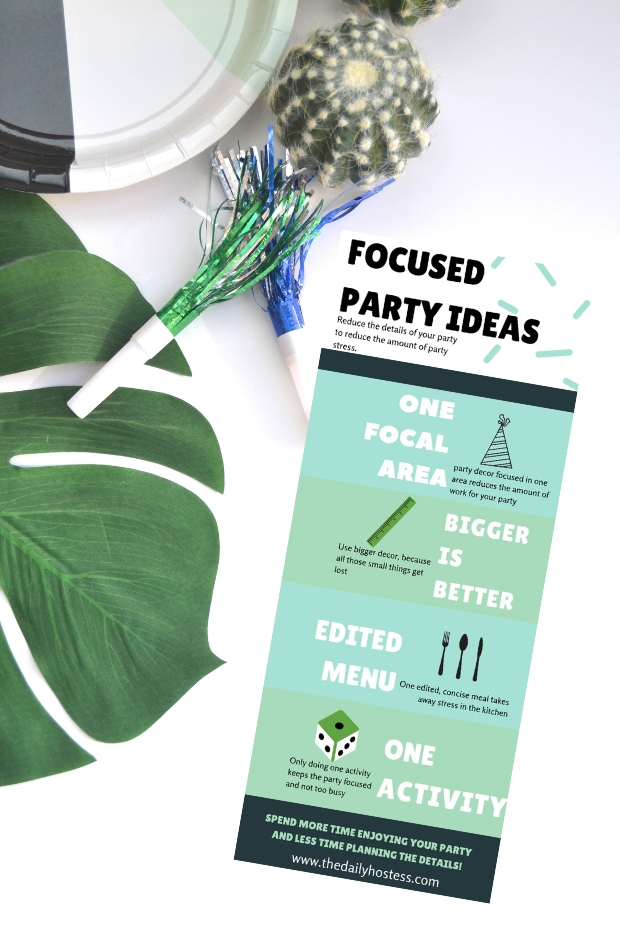 stress free party planning, the only four areas you need to plan for a stress free party, party planning tips, #partyplanningtips #partyideas #stressfreeparty