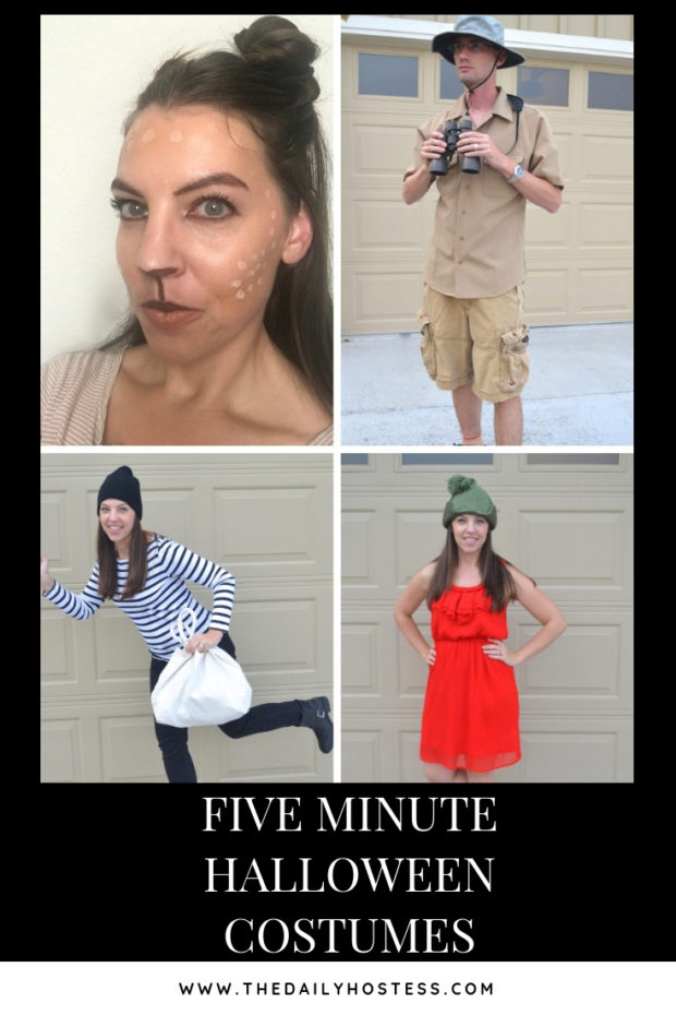 Five 5 Minute Costumes The