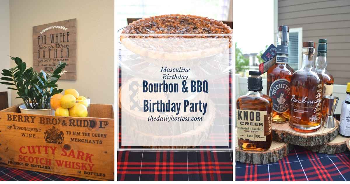 Real Life Party Bourbon And Bbq Birthday Party The
